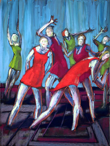 Red And Green Dancing Girls