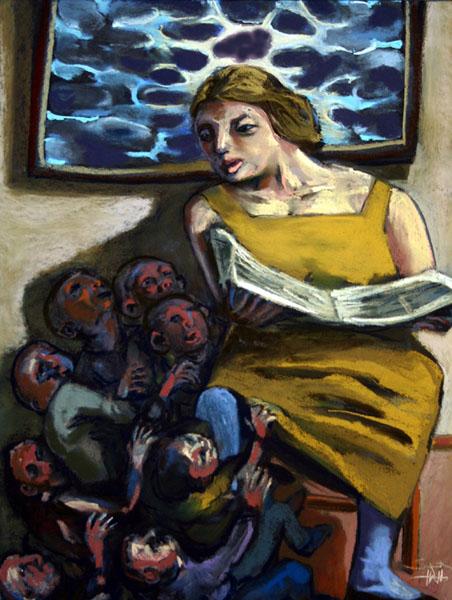 Mother's Voice Calmed Their Fears
