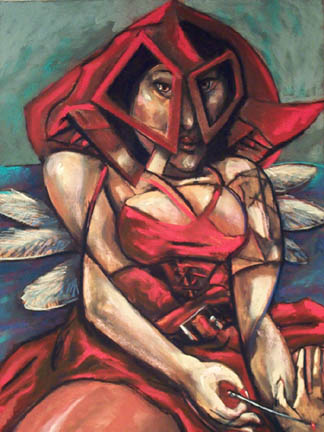 Angel in a Red Dress - price - contact the artists - ric@schmitt-hall-studios.com for list