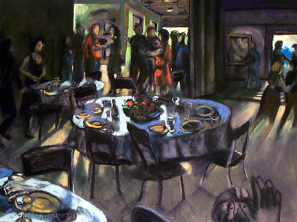Dinner Party - price - contact the artists - ric@schmitt-hall-studios.com for list