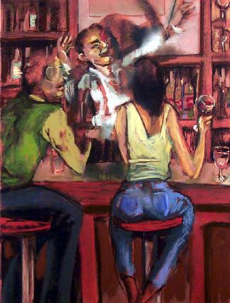The Wine Bar - price - contact the artists - ric@schmitt-hall-studios.com for list